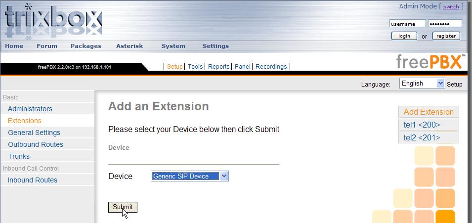 File:Screenshot FreePBX Setup add-extension png - TD-er's Wiki